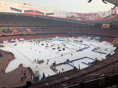 北京鸟巢场馆冰雪承建
